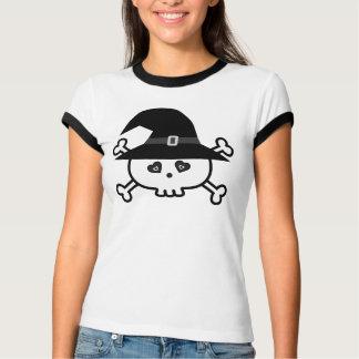 Camiseta Crânio bonito do Dia das Bruxas dos desenhos