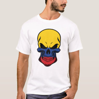 Camiseta Crânio colombiano da bandeira