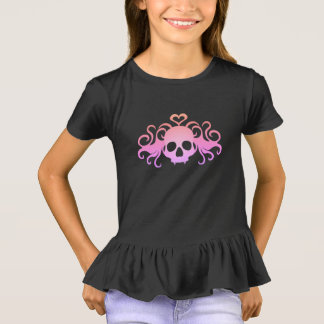 Camiseta Crânio colorido doces bonito