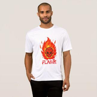 Camiseta Crânio com a chama em torno dela