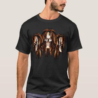 Camiseta Crânio com Dreadlocks