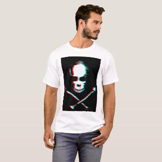 Camiseta Crânio com efeito da separação de cor