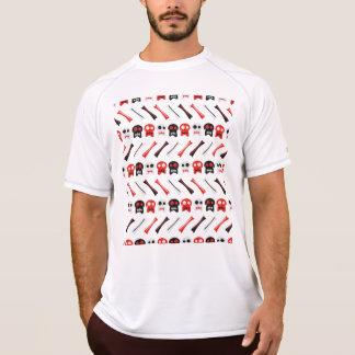 Camiseta Crânio cómico com teste padrão colorido dos ossos