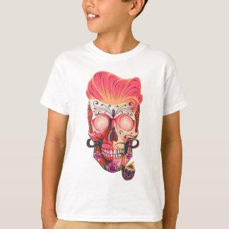 Camiseta crânio cor-de-rosa
