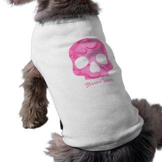 Camiseta Crânio cor-de-rosa feminino