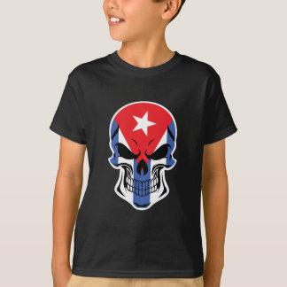 Camiseta Crânio cubano da bandeira