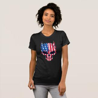 Camiseta Crânio da bandeira americana