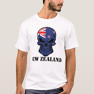 Camiseta Crânio da bandeira de Nova Zelândia
