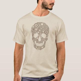 Camiseta Crânio da engrenagem da bicicleta