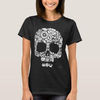 Camiseta Crânio da flor