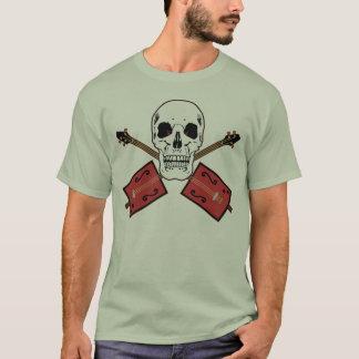 Camiseta Crânio da guitarra da caixa de charuto