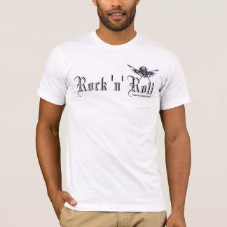 Camiseta Crânio da música rock e t-shirt da arte gráfica