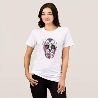 Camiseta Crânio do açúcar com flores