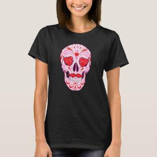 Camiseta Crânio do açúcar do coração
