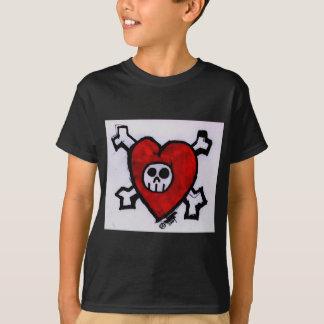 Camiseta Crânio do amor