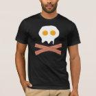 Camiseta Crânio do bacon dos ovos
