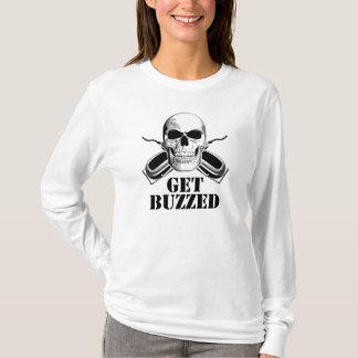 Camiseta Crânio do barbeiro: Obtenha zumbido