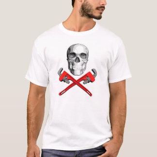 Camiseta Crânio do canalizador: Chaves cruzadas