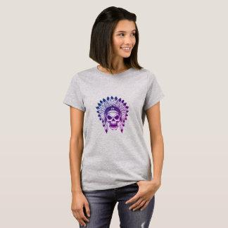 Camiseta Crânio do chefe do nativo americano