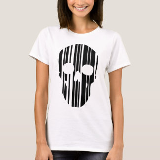 Camiseta Crânio do código de barras