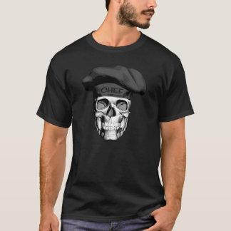 Camiseta Crânio do cozinheiro chefe do chapéu negro