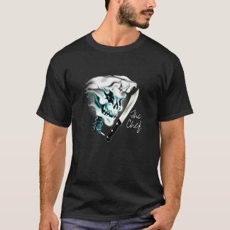 Camiseta Crânio do cozinheiro chefe do fantasma