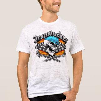 Camiseta Crânio do Ironworker e chaves cruzadas ardor