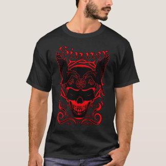 Camiseta Crânio do pecador (vermelho)