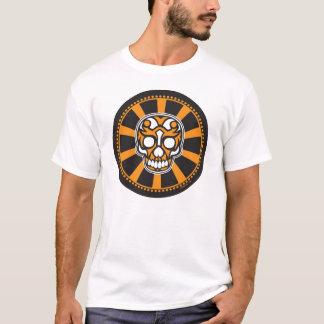 Camiseta crânio do sunburst do bullseye