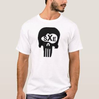Camiseta crânio do sXe