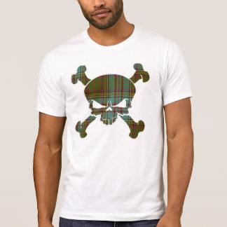 Camiseta Crânio do Tartan de Anderson nenhuma bandeira