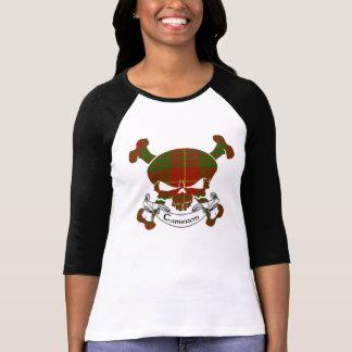 Camiseta Crânio do Tartan de Cameron