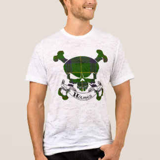 Camiseta Crânio do Tartan de Holmes