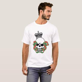 Camiseta Crânio do vetor com dragões