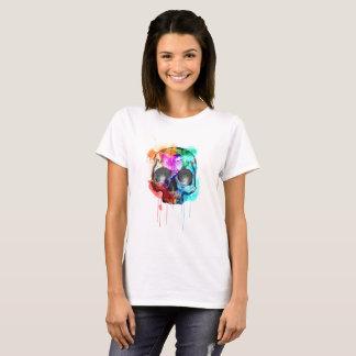 Camiseta Crânio do Watercolour