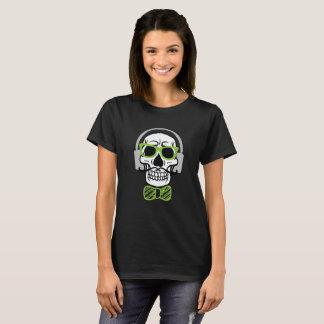 Camiseta Crânio doce com fones de ouvido
