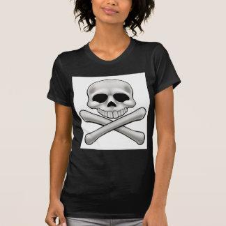 Camiseta Crânio dos desenhos animados e Crossbones Roger