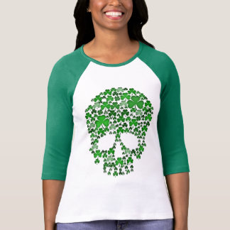 Camiseta Crânio dos trevos do Dia de São Patrício