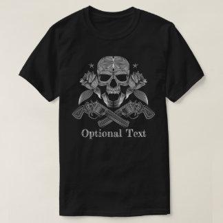 Camiseta Crânio e armas pretos & brancos