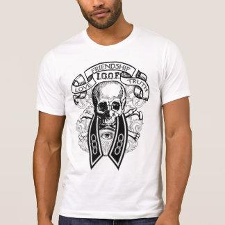 Camiseta Crânio e colar do FLT dos companheiros impares