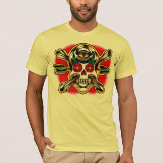 Camiseta Crânio e Crossbones com seta e um terceiro olho