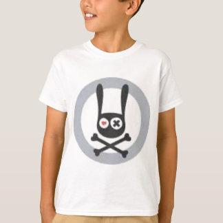 Camiseta Crânio e Crossbones do coelho com coração e olho