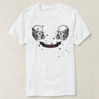 Camiseta crânio e flor de cerejeira do samurai