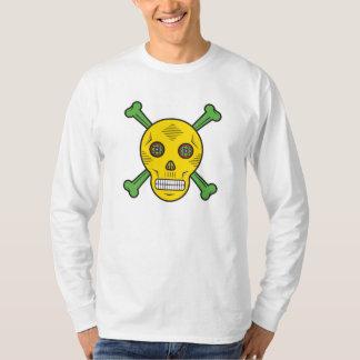 Camiseta Crânio e ossos amarelos do açúcar