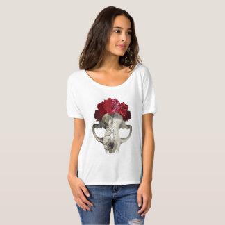 Camiseta Crânio e rosas de cristal