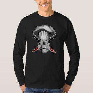 Camiseta Crânio empalado v4 do cozinheiro chefe