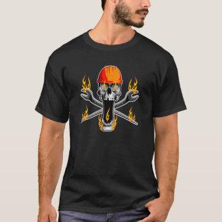 Camiseta Crânio flamejante do Ironworker