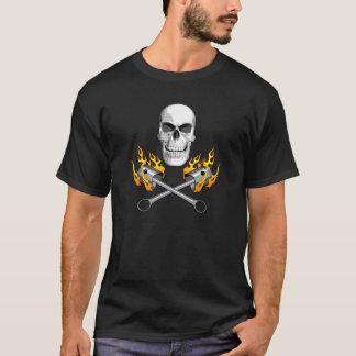 Camiseta Crânio flamejante do mecânico