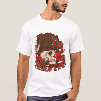 Camiseta Crânio flertando do homem das senhoras