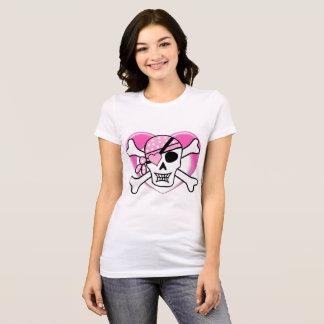 Camiseta Crânio gótico bonito & ossos com o Tshirt do